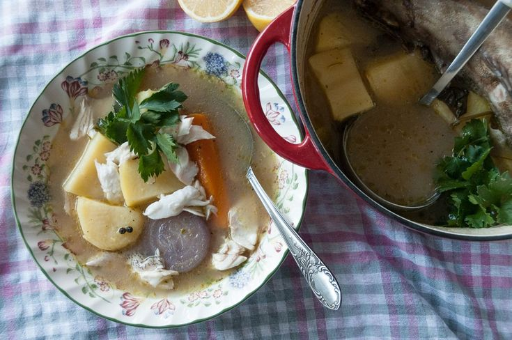 Fish Soup.  Place the fish in a pot along with about 1 ½ liters of water that is barely covering it. Add the bouillon cube, salt, pepper, thyme and rosemary. C...