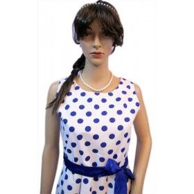 Naritva Blue Polka Dots Cocktail Dress