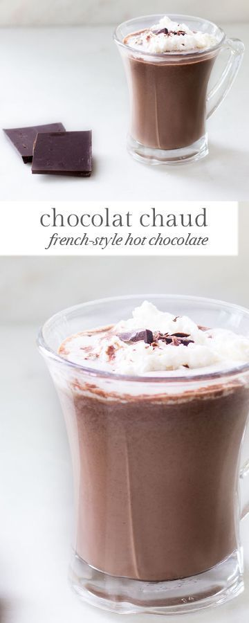 Rich and luxurious hot chocolate done the French way! Recipe via http://MonPetitFour.com