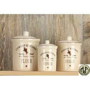 Superbe M Western Canister Set   Cowboy Kitchen