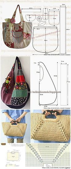 Summer bags ... a few ideas and patterns ...