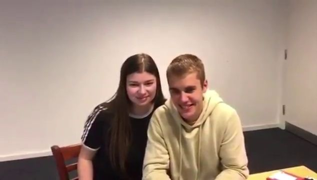 Video of Justin Bieber backstage with a fan with Make-A-Wish after his #PurposeTour in Aarhus, Denmark last month. (June 5)