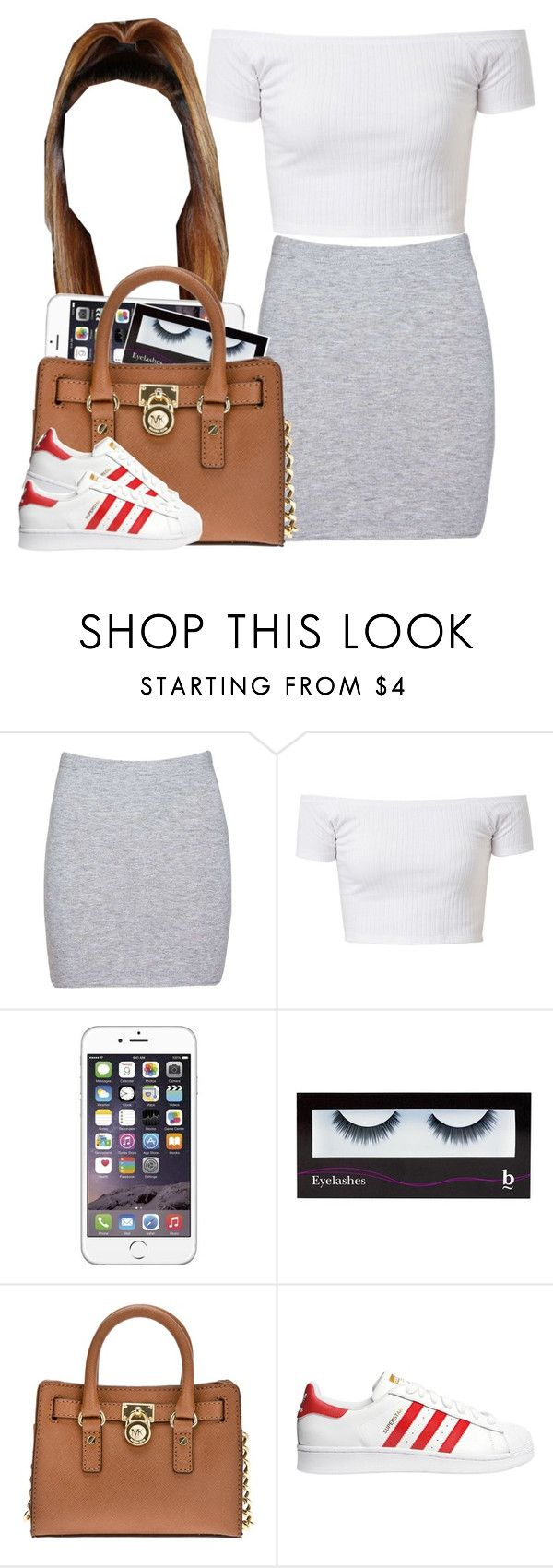 """""""Mall"""" by trillest-queen ❤ liked on Polyvore featuring Boohoo, BBrowBar, MICHAEL Michael Kors, adidas Originals, women's clothing, women, female, woman, misses and juniors"""