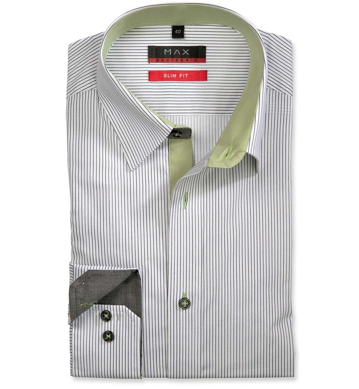 Slim Fit priliehavá biela štrukturovaná košeľa Popelín (plátnová tkanina)