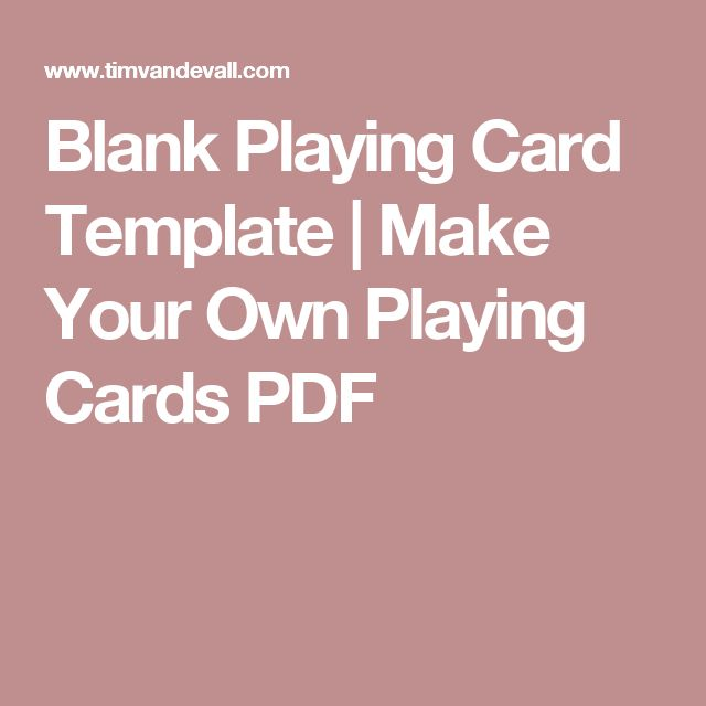 Best 25+ Blank playing cards ideas on Pinterest Kindness elves - card word template