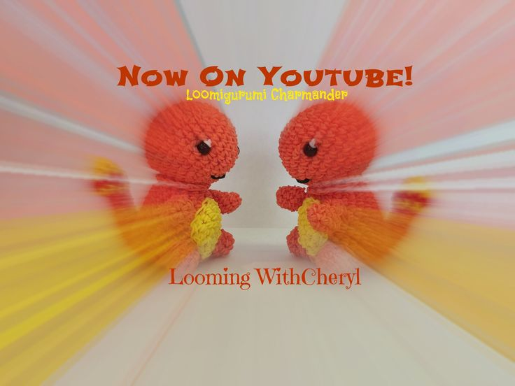 Rainbow Loom Charmander Loomigurumi - Looming WithCheryl ( Looming With Cheryl ) Loomigurumi Tutorial is Now on YouTube! Charms / figures / gomitas / gomas / animals / Pokemon inspired. With your loom or crochet with your hook only / Amigurumi. Please Subscribe ❤️❤ m.youtube.com/user/LoomingWithCheryl
