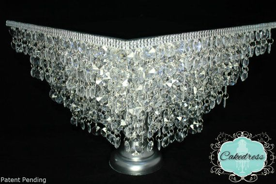 Crystal Wedding Cake Stand Chandelier StylePatent by CakeDress, $250.00