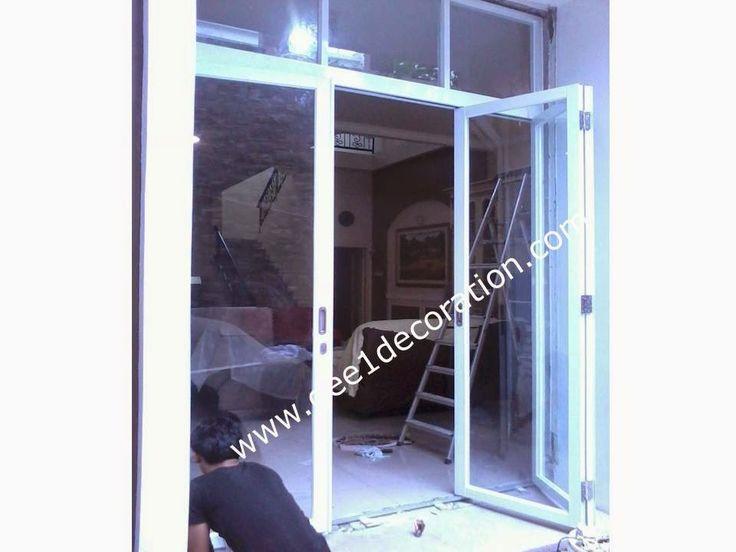 aluminium, kusen, kaca, partisi,  pintu, jendela, lipat, geser, swing, jungkit, pivot, sliding, : pintu lipat