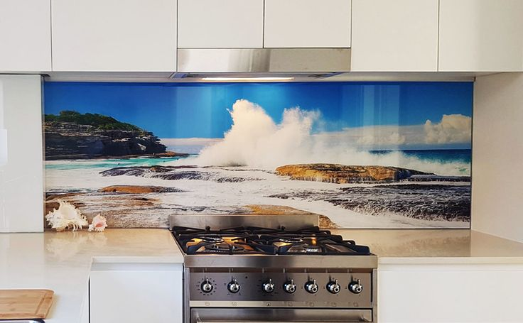 Make your kitchen stylish and visually appealing with custom-designed and coloured glass #splashbacks from #PrintsOnGlass. Truly the most effective way to make your kitchen unique and attractive