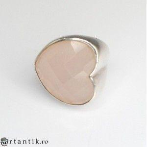 inel statement TOUS - argint si cuart roz - de colectie
