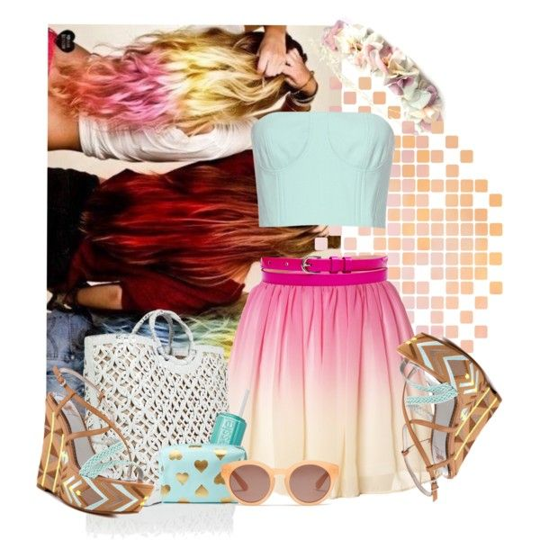 """ombre"" by dominikar on Polyvore"
