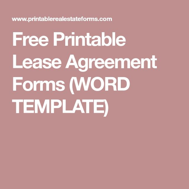 The 25+ best Room rental agreement ideas on Pinterest - printable lease agreement