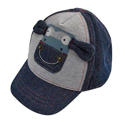Tangda Casquette avec Protection UV 50+ Chapeau Coton Baseball bébé Fille Garçon Denim Marine Veau Animal Mignon Cool Panama Plage Camping…