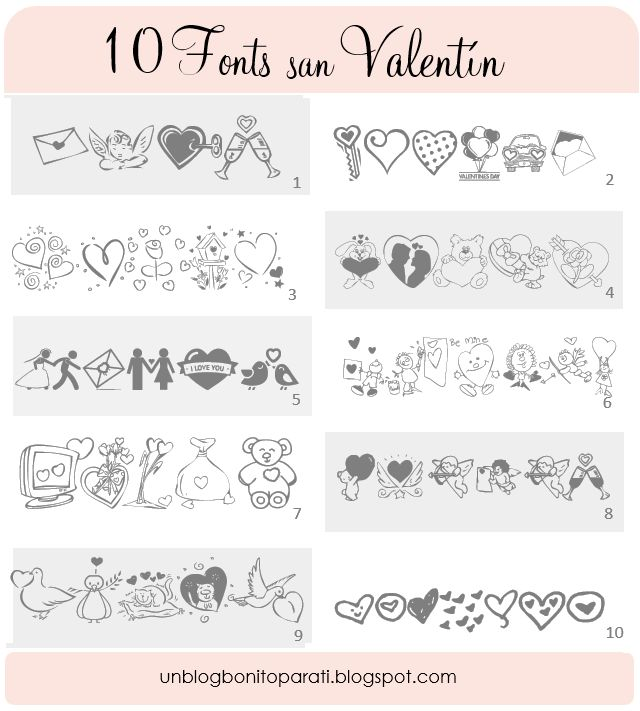 Tipos de letras para San Valentin                                                                                                                                                                                 Más