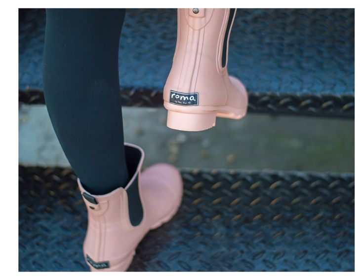 CHELSEA Matte Blush Women's Rain Boots