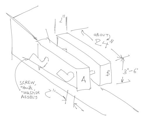 Designing a Moxon Vise using Tools for Working Wood kit.