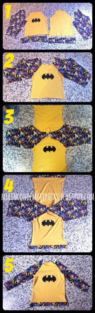 cómo coser camiseta raglán