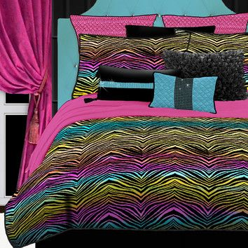 Free Shipping when you buy Veratex, Inc. Rainbow Zebra Bedding Collection at Wayfair - Great Deals on all Furniture products with the best selection to choose from!