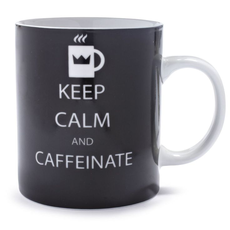 Keep Calm And Caffeinate Mug | Sur La TableCoffe Mugs, Coffee Shops, Coffe Cups, Coffe Lovers, Gift Ideas, Keep Calm, Caffeine Coffe, Coffee Mugs, Coffe Addict