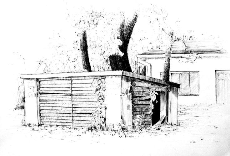 Białystok, bunkier na wydziale Architektury, A3, brystol, ballpen
