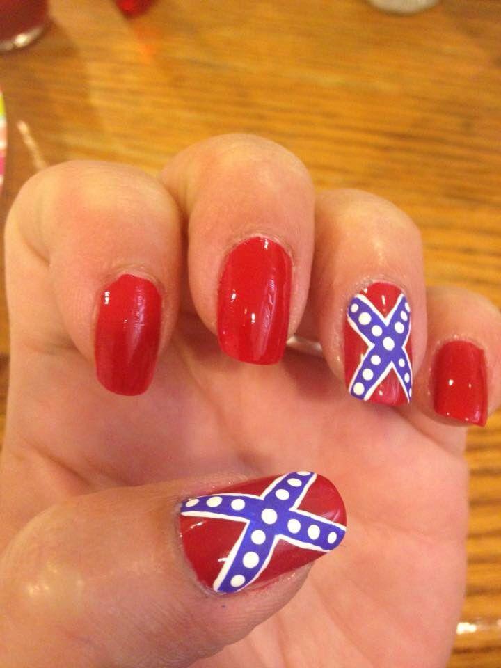 Rebel flag nails - 139 Best My Nail Art Images On Pinterest Nail Art, Nail Art Tips