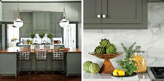 Painted Cabinets Sherwin Williams Oyster Bay Pewter Green Via Dicorcia Interior Design Ny Nj