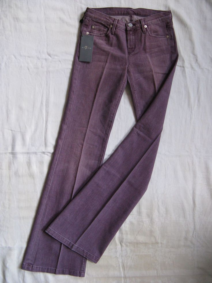 7 SEVEN for all MANkiND Damen Mauve Jeans Stretch W24/L32 low waist flare leg | eBay