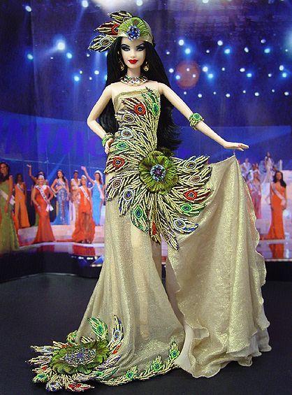 Barbie Miss Bhutan Ninimomo | Barbie dress, Barbie miss