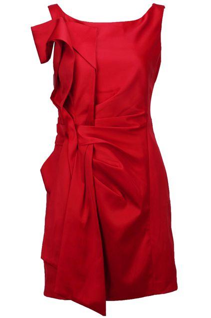 ROMWE   Pleated Side Red Shift Dress, The Latest Street Fashion #RomwePartyDress
