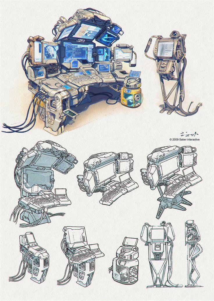 ArtStation - terminals concepts, Dmitry Popov