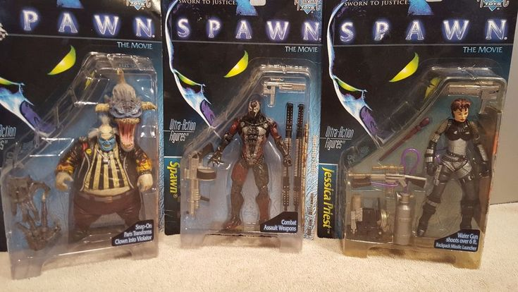 McFarlane SPAWN THE MOVIE Action Figures Lot of 3 Spawn Clown Jessica Priest