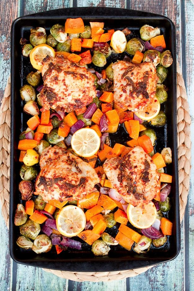 One pan roasted chicken and veggies...TNT 71557addf2a1ca36e79abf15bbf3a9a4