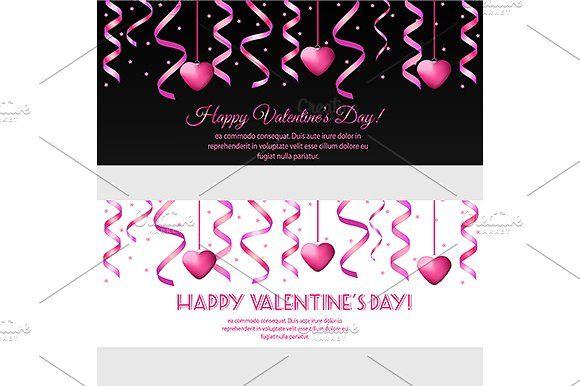 Valentine day banners template. eps by KSU's Little Shop on @creativemarket