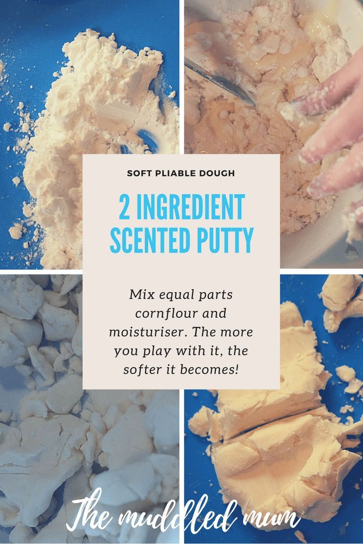 Scented Putty - The Muddled Mum. This variation on foam dough is perfect for when you want a quick activity using things you have in the cupboard. The lovely scent adds an extra dimension to this fun sensory and messy play