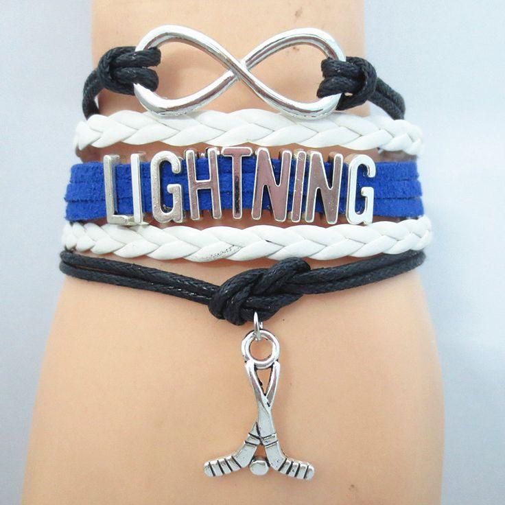Infinity Love Tampa Bay Lightning Hockey Bracelet BOGO