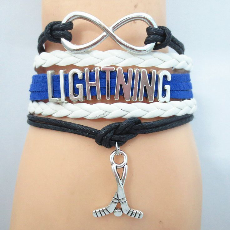 Infinity Love Tampa Bay Lightning Hockey Bracelet BOGO