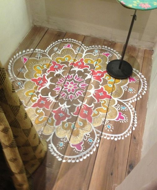 Floor Decor More: 72 Best Images About Painted Floors & Faux Rugs On