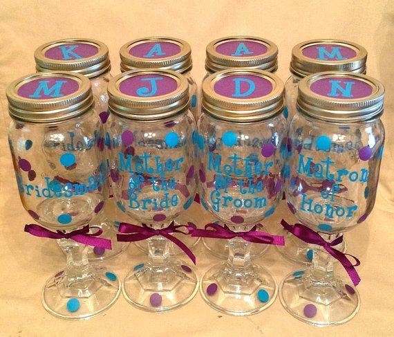 Personalized REDNECK WINE GLASS Mason Jar For Bride