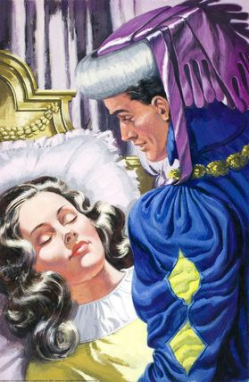 Prince awakes sleeping beauty with a kiss - Sleeping Beauty - Eric Winter - Ladybird Book