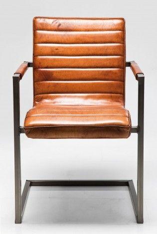 KARE Prague - Cantilever Chair Riffle Buffalo Brown