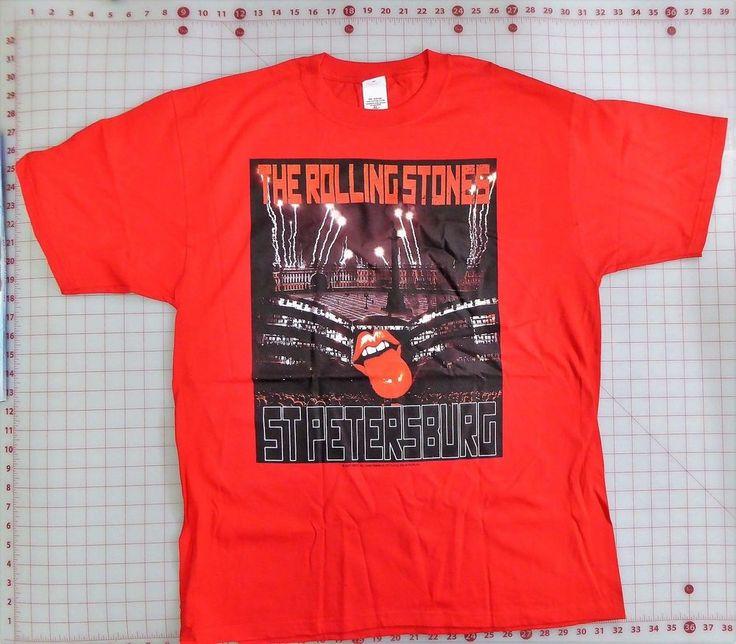 Rolling Stones Concert T-Shirt XL Red NIB St Petersburg Russia 2007 July 28  | eBay