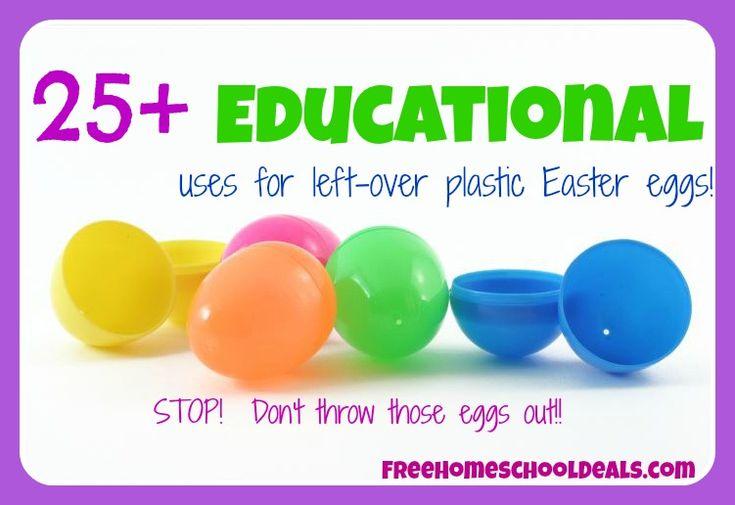 25+ Educational Uses for Left-Over Plastic Easter Eggs!