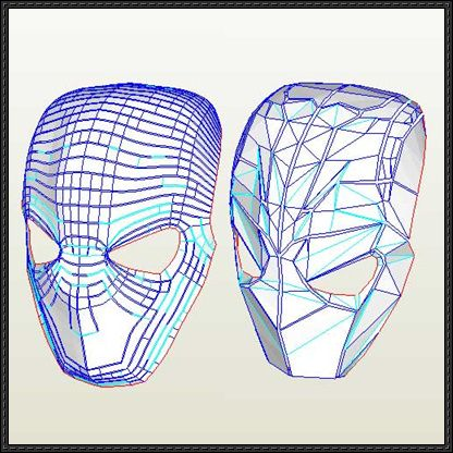 DC Comics - Life Size Deathstroke Mask for Cosplay Free Papercraft Download - http://www.papercraftsquare.com/dc-comics-life-size-deathstroke-mask-cosplay-free-papercraft-download.html