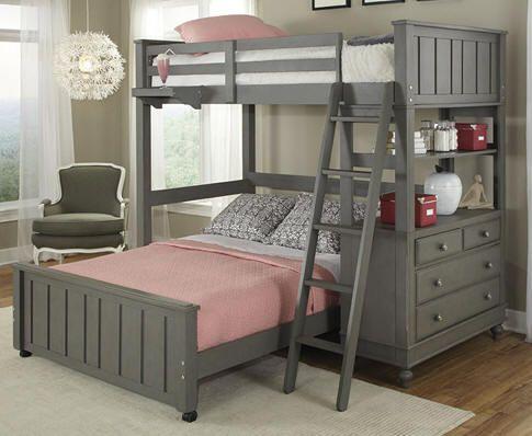 Boardwalk Full Size L Shape Storage Loft Bed