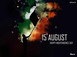 15Th August Happy Independence Day With Dark Background HD Wallpaper,Happy Independence Day HD…