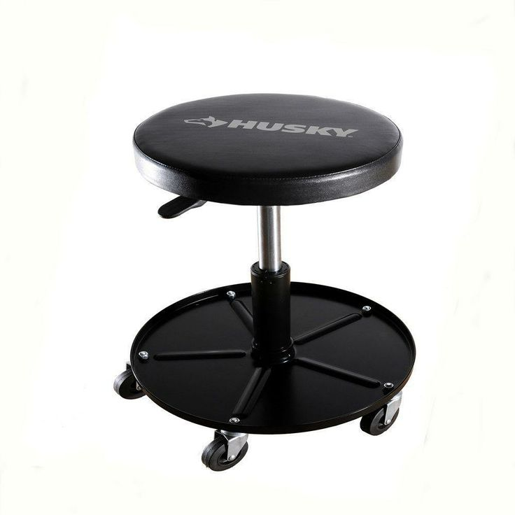 Husky Heavy Duty Rolling Shop Seat 1259 O At The Home Depot Shop