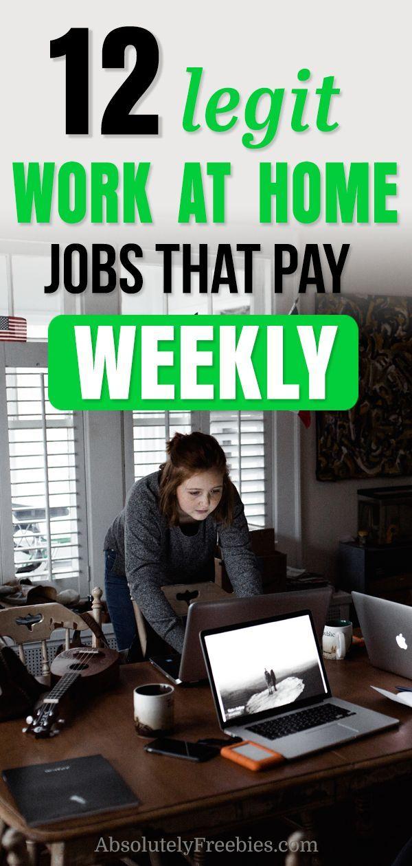 12 Legitime Jobs von zu Hause aus, die wöchentlic…