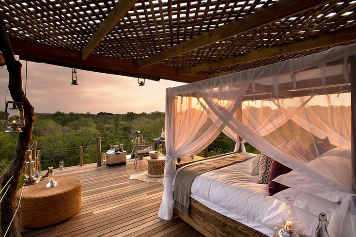 Отель Lion Sands Game Reserve на территории африканского заповедника