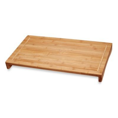 Stovetop Cutting Board - BedBathandBeyond.com. Covers half of the stove for extra counter space!! Seriously need this!