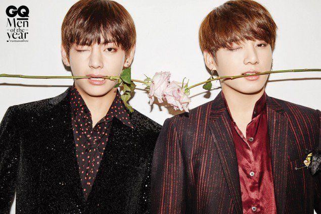 BTS flirt with roses as 'GQ Korea's 'Men of the Year 2016' | allkpop.com